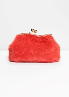 Loeffler Randall Two-tone faux fur and suede clutch ( 595) ❤ liked on Polyvore  featuring bags 79b2585c901b8