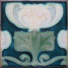 Antique Pilkington's Art Nouveau Tile - Voysey?