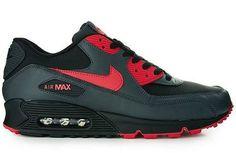 Nike Air Max 90 Black/Siren Red