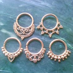 A few of our rose gold plated septum rings. #septumrings #bodyjewelry #bodymodification #jewelry #noserings #septum #rosegold #cute #loveit
