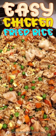 Easy & Delicious Chicken Fried Rice Recipe you must try at home Chicken Fried Rice Chinese, Chicken Fried Rice Recipe Easy, Chicken Fried Cauliflower Rice, Chicken Rice Recipes, Easy Rice Recipes, Fried Chicken, Asian Chicken, Vegetarian Rice Recipes, Vegetarian Fried Rice