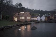 Naust V, a glowing beacon in an old boathouse