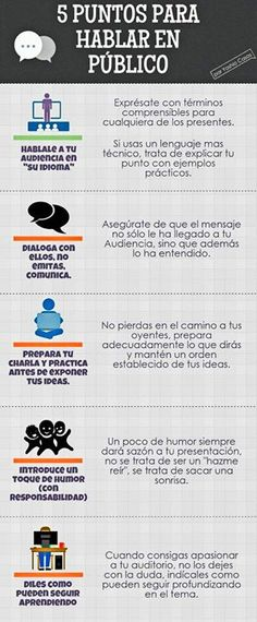 Cinco tips para hablar en público http://ift.tt/21oD1LV