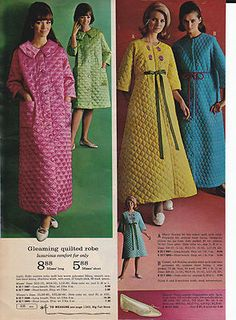 1967 Montgomery Ward Women s Quilted Robes. Mine was like the yellow robe ec91b7e5b