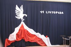 Znalezione obrazy dla zapytania 11 listopada-dekoracje szkolne Altar, Wedding Stage Backdrop, Diy And Crafts, Crafts For Kids, School Decorations, Curtain Designs, Party Activities, Independence Day, Photo Booth