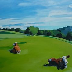 Golf Courses, Paintings, Sports, Art, Hs Sports, Art Background, Paint, Painting Art, Kunst