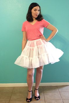 How to make a petticoat - for wearing under the skirt