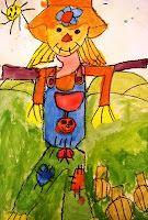 Deep Space Sparkle – Scarecrow Art Lesson