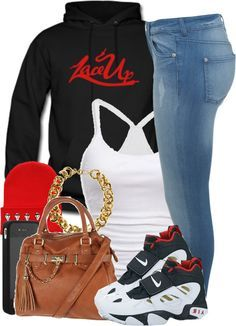 Mgk lace up teen swag, nike outfits, swag outfits for girls, casual outfits Nike Outfits, Cute Swag Outfits, Outfits For Teens, Casual Outfits, Ghetto Outfits, Fresh Outfits, Matching Outfits, Winter Outfits, Urban Fashion