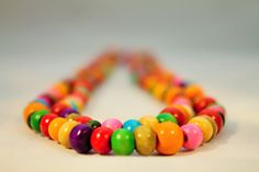 Multi-Coloured Layered Necklace Matching Earrings by CraftyHoboUK