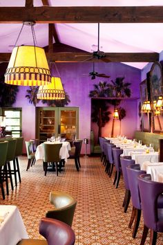 The Purple Palm restaurant is popular with guests and locals; reservations are recommended. #Jetsetter