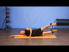 The Move of the Day is Side Leg Circle Lift. This is much more challenging than it looks. If you keep your pelvis steady, you really target the hip abductor ...