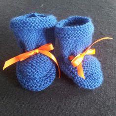 Knitted newborn socks