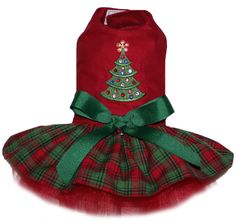 This could possibly be Paris's 2015 Christmas dress. This could possibly be Paris's 2015 Christmas dress. Yorkie Clothes, Pet Clothes, Dog Clothing, Christmas Tree Dress, Christmas Christmas, Christmas Ideas, Dog Clothes Patterns, Pet Fashion, Dog Wear