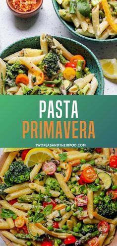 Try this pasta recipe, an easy and healthy primavera, perfect for the summer. This classic dish is a wonderful mixture of colorful vegetables and a simple lemon parmesan cream sauce. This recipe can be a meal on its own. Save this pin for later! Vegetarian Dinners, Vegetarian Recipes, Cooking Recipes, Healthy Recipes, Easy Pasta Recipes, Veggie Recipes, Dinner Recipes, Giada De Laurentiis, Perfect Pasta Recipe