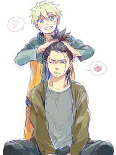 Naruto & Shikamaru, awesome.  better than Sasuke's realationship with naruto