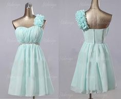 tiffany blue bridesmaid dress short bridesmaid dress by fitdesign, $93.00