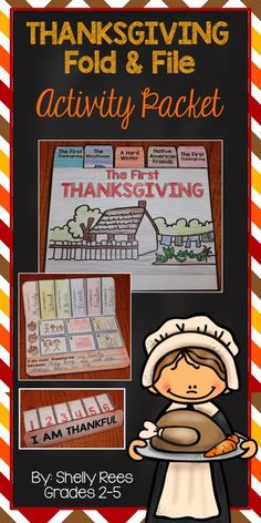 Thanksgiving Foldables. The First Thanksgiving Fold and File Booklet, I Am Thankful Matchbook Foldable, Coloring sheet, and Writing Paper. Perfect for learning about the First Thanksgiving and showing gratitude. LOVE!