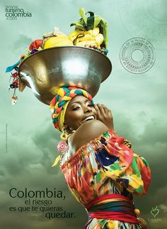 Colombia, the only risk is wanting to stay by Juan David Jaramillo, via Behance… African Beauty, African Women, African Art, Colombian Culture, Colombian Art, Colombian Women, Colombia South America, African Head Wraps, Colombia Travel