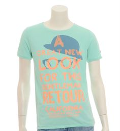 Retour jeans T-shirt model Niek in Mint - NummerZestien.eu