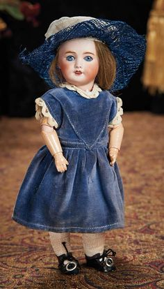 The Lifelong Collection of Berta Leon Hackney: 207 French Bisque Doll in the Bleuette Genre, in Original Bleuette Costume
