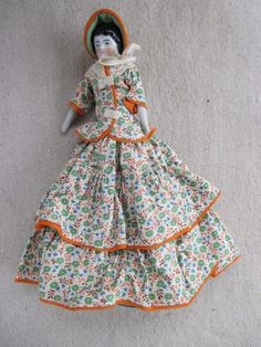 Gorgeous Antique Small China Head Doll