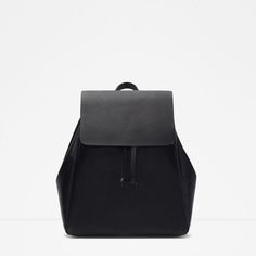 ZARA | backpack with foldover flap
