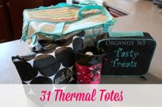 I use Thirty One zipper Pouches to organize my Thirty One bags.