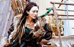 Lin Peng in 'Dragon Blade' (2015).