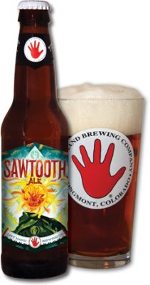 "Sawtooth Ale is Left Hand Brewing's original flagship brew. ""Two guitars, bass and drums. It's all you'll ever need. Sessionable. Unpretentious. Our original flagship. Proof that a beer can be both complex and balanced. Malty chewiness slowly transitioning over to herbal, earthy hops with a dry finish. Brewed to be enjoyed with friends and to stimulate serendipity."" Review at: http://rockthought.com/beer-review-sawtooth-ale   Checking out some Colorado breweries!!!"