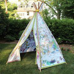 Kid Painted Teepee & Teepee Pattern | Rachael Rabbit