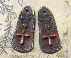 Handcrafted Rustic Cross Charms  Jewelry Making No. by Inviciti  - handmade jewelry - handcrafted jewelry - inviciti jewelry - artisan jewelry - etsy jewelry - handmade charms - jewelry making - jewelry supplies - jewelry supply - handmaded jewellery - etsy jewelry