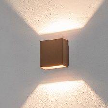 LED Wandleuchte 5W, warmweiß, rostbraune Farbe, Außenbereich