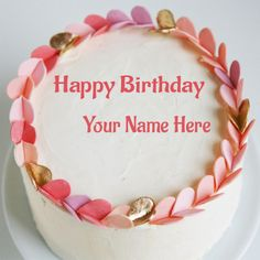 Write Your Name On Birthday Cake Wishes Pictures