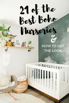 Boho nursery ideas for a boy, girl or a neutral nursery. We found the best modern and natural boho nurseries and break down step by step what décor you need to get the gorgeous bohemian look for your baby's nursery. #nursery #nurserydecor #nurseryideas #nurserymobile #nurseryroom #babynursery #babynurserydecor