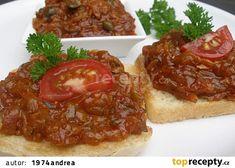 Cuketová topinková směs recept - TopRecepty.cz 20 Min, Bon Appetit, Fall Recipes, Pesto, Zucchini, Food And Drink, Veggies, Appetizers, Vegetarian