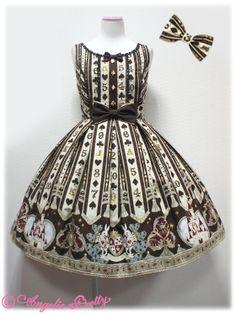 Angelic Pretty - Wonder Queen Special Set /// ¥12,600 /// Bust: 86~105 cm Waist: 69~90 cm Length: 88 cm + 1 cm lace