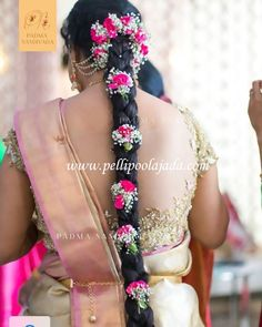 Order Fresh flower poolajada, bridal accessories from our local branches present over SouthIndia, Mumbai, Delhi, Singapore and USA. Easy Hair Up, Easy Updos For Medium Hair, Easy Hairstyles For Long Hair, Medium Hair Styles, Short Hair Styles, Plait Styles, Hairstyle Short, Hair Medium, Hair Updo