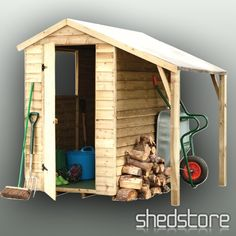 Image detail for -Shed-Plus PT Lean-To Shed 5'11 x 3'10, Wooden Sheds FREE Delivery