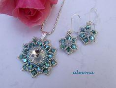 Beaded Earring & Pendant by Almona