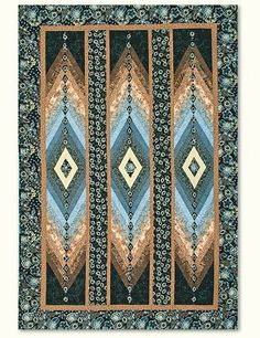 Diamonds are Forever pattern by Sandi Irish at Irish Chain Bargello Quilt Patterns, Bargello Quilts, 3d Quilts, Jellyroll Quilts, Strip Quilts, Panel Quilts, Scrappy Quilts, Quilt Block Patterns, Quilt Blocks
