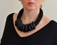 Original neck piece/statement necklace/chunky neck wear/knit
