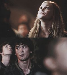 The 100 - Bellamy & Clarke, I love the way he looks at her.