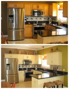 kitchen cabinets plastic coating chalk paint 174 makeover 70 s plastic mirror refinished 21015