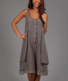 Brown Lio Linen Sleeveless Dress