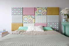 madeforbed.com, modular headboard, beautiful bedroom, patchwork headboard, zagłówek, kopfteil, betthaupt, wezgłowie, hoofdbord, modular bettkopfteil, schlafzimmer, sypialnia, scandinavian