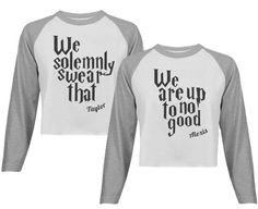 Up To No Good Matching BFF's Shirts #bestfriends #bestfriendshirts #solemnlyswear