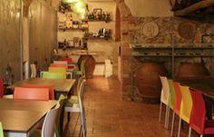 Wine tasting room at Fattoria del Colle