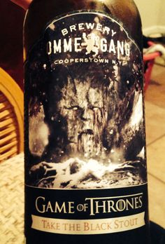 Game of thrones take the black stout onmegame brewery