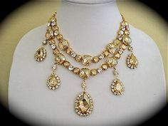 Champagne Cushion Cut Statement Necklace - $308.00 : Marry Me Charlie, Your Online Wedding House   The Marketplace Making a Difference